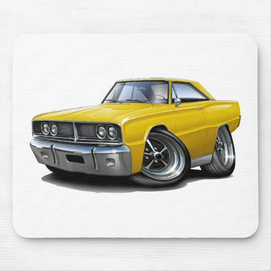 1966 Coronet Yellow Car Mouse Pad