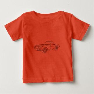 1966 Corvette Roadster - Lt Fabric Baby T-Shirt