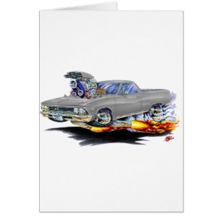 1966 El Camino Grey Truck Card