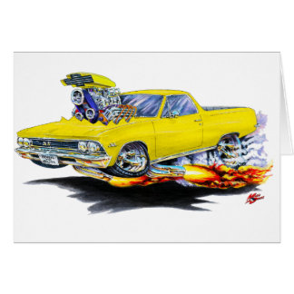 1966 El Camino Yellow Truck Card