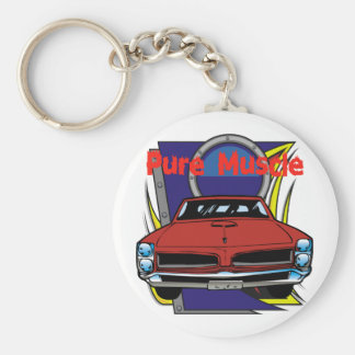 1966 GTO Muscle Car Basic Round Button Keychain