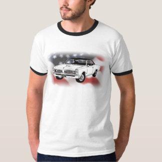1966 GTO over USA flag T-Shirt