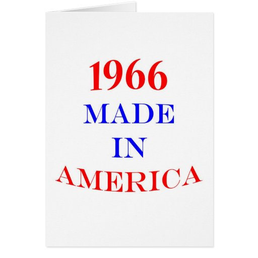 1966 Made in America Card