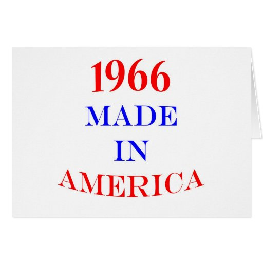1966 Made in America Cards
