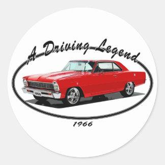 1966_nova_red classic round sticker