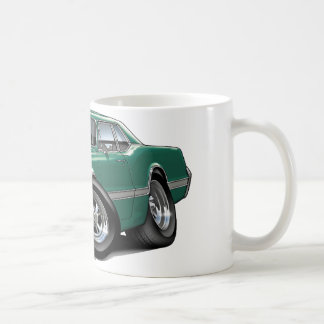 1966 Olds Cutlass Teal Car Coffee Mug