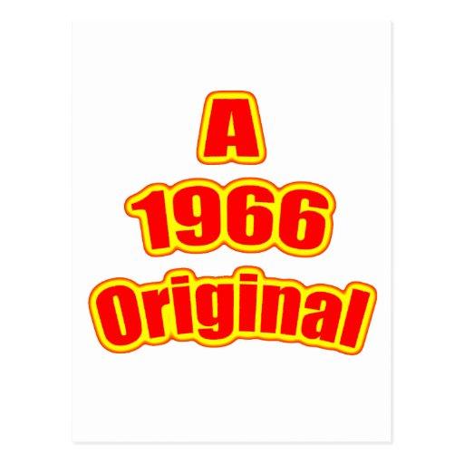 1966 Original Red Post Card