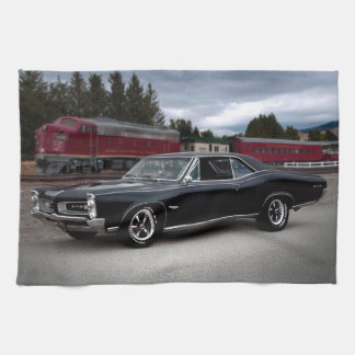 1966 Pontiac GTO Muscle Car Locomotive Train Kitchen Towel