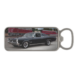 1966 Pontiac GTO Muscle Car Locomotive Train Magnetic Bottle Opener