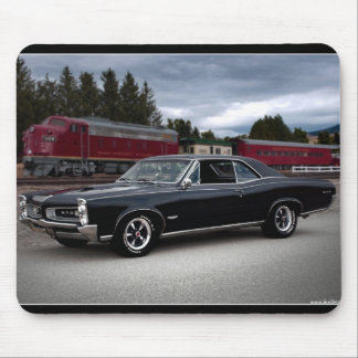 1966 Pontiac GTO Muscle Car Locomotive Train Mouse Pad