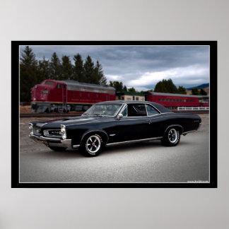 1966 Pontiac GTO Muscle Car Locomotive Train Poster