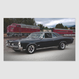 1966 Pontiac GTO Muscle Car Locomotive Train Sticker