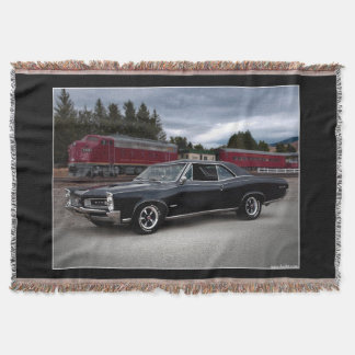 1966 Pontiac GTO Muscle Car Locomotive Train Throw Blanket