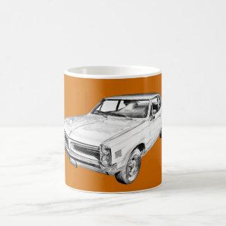 1966 Pontiac Lemans Car Illustration Basic White Mug