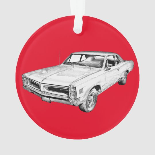 1966 Pontiac Lemans Muscle Car Illustration