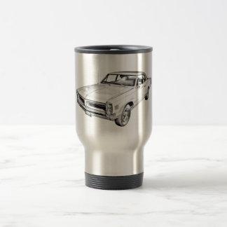 1966 Pontiac Lemans Muscle Car Illustration Stainless Steel Travel Mug