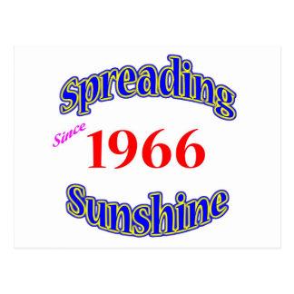 1966 Spreading Sunshine Postcard