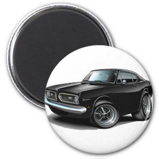 1967-69 Barracuda Black Car 2 Inch Round Magnet