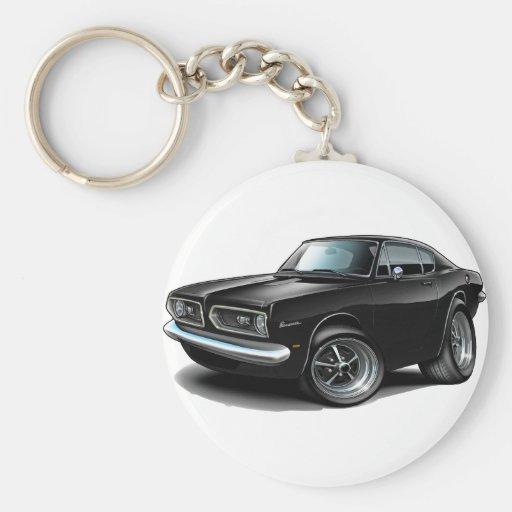 1967-69 Barracuda Black Car Keychain