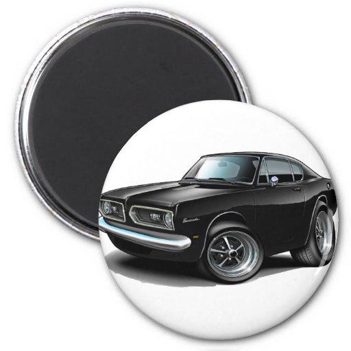 1967-69 Barracuda Black Car Fridge Magnets