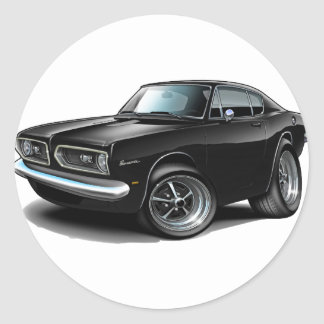 1967-69 Barracuda Black Car Round Sticker