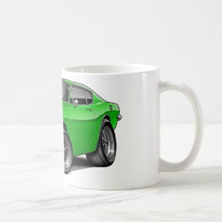 1967-69 Barracuda Lime Car Classic White Coffee Mug