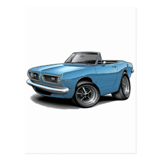 1967-69 Barracuda Lt Blue Convertible Postcard