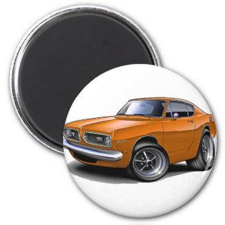 1967-69 Barracuda Orange Car Magnet