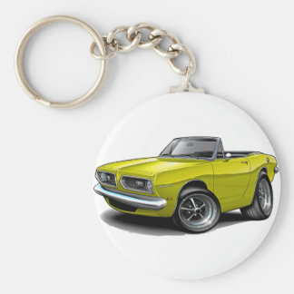 1967-69 Barracuda Yellow Convertible Keychain