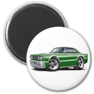 1967 Belvedere Green Car Magnet