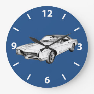 1967 Buick Riviera Illustration Large Clock