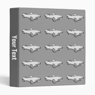 1967 Camaro muscle Car Illustration 3 Ring Binders