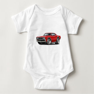 1967 Chevelle Red Car Baby Bodysuit