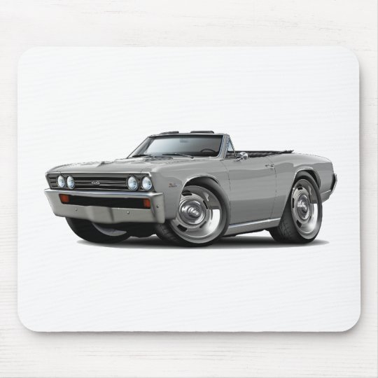 1967 Chevelle Silver Convertible Mouse Pad