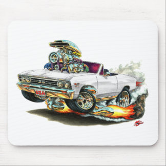 1967 Chevelle White Convertible Mouse Pad