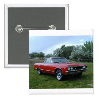 1967 Chevrolet Chevelle El Camino 2 Inch Square Button