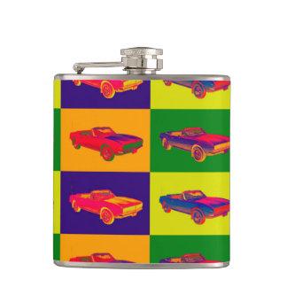 1967 Chevy Camaro RS Convertible Pop Art Flasks