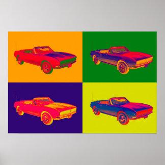 1967 Chevy Camaro RS Convertible Pop Art Poster