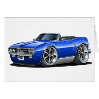 1967 Firebird Blue Convertible Card