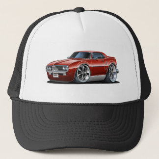 1967 Firebird Maroon Car Trucker Hat