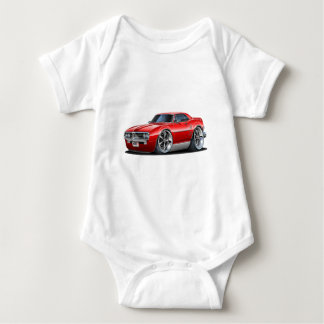 1967 Firebird Red Car Baby Bodysuit
