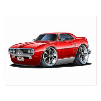 1967 Firebird Red Car Postcard