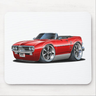 1967 Firebird Red Convertible Mouse Pad