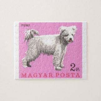 1967 Hungary Pumi Dog Postage Stamp Jigsaw Puzzle