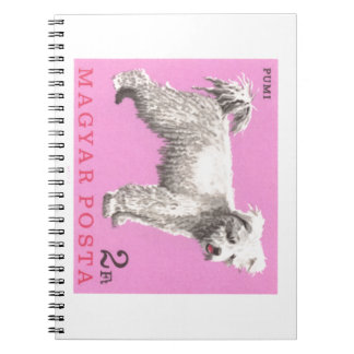 1967 Hungary Pumi Dog Postage Stamp Notebook