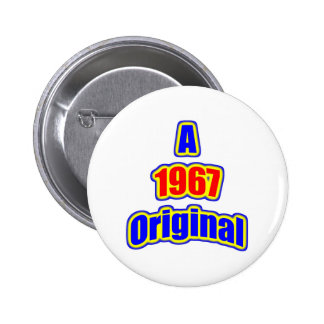 1967 Original Bl Red 2 Inch Round Button