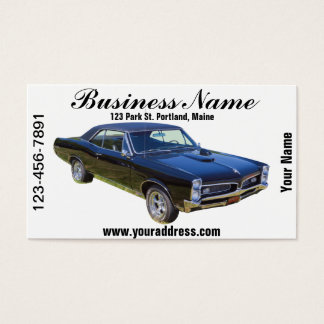 1967 Pontiac GTO Muscle Car Business Card