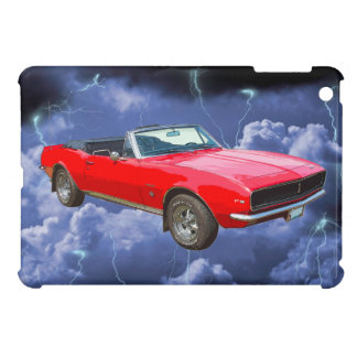 1967 red Camaro Muscle Car and Lightning Bolts Cover For The iPad Mini