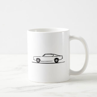 1968 1969 Plymouth Barracuda Classic White Coffee Mug