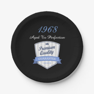 1968 50th Year Born Award Gift Him or Her Custom Paper Plate